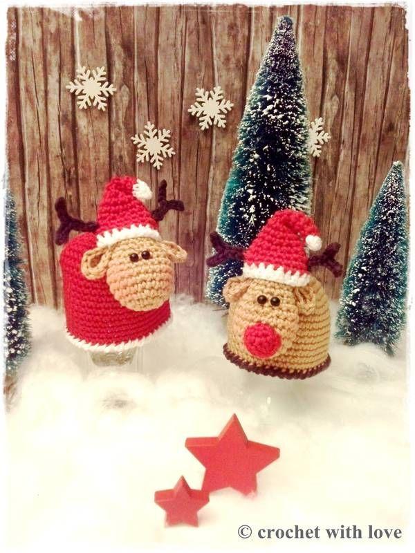 Häkelanleitung Set für Weihnachtseierwärmer im Schaf- und Elchdesign ...so macht Frühstück Spaß! Umfang: 13 Seiten Anleitung für Elch und Schaf als Set leicht verständlich mit vielen Erklärungen und Bildern