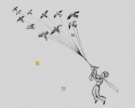Volar, volar...  El Principito @Ale Leiva pensé en vos !!!!  Lindiito verdad <3