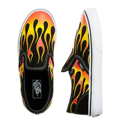 totally William!    Boys' Vans® flames slip-ons