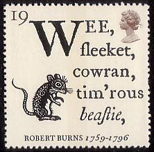 Robert Burns (meaning, Small, crafty, cowering, timorous little beast)