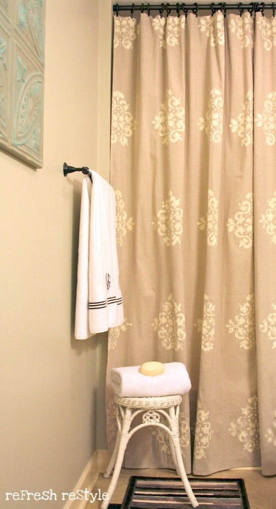 Painted Shower Curtain Front Door CurtainsDrop Cloth