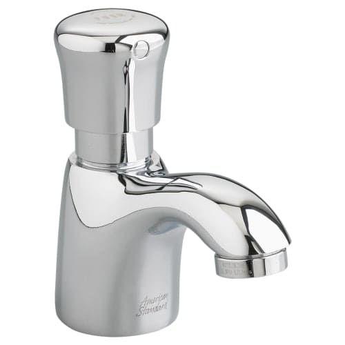 American Standard 1340.105 Single Handle Monoblock Metering Bathroom Faucet with Pillar Tap