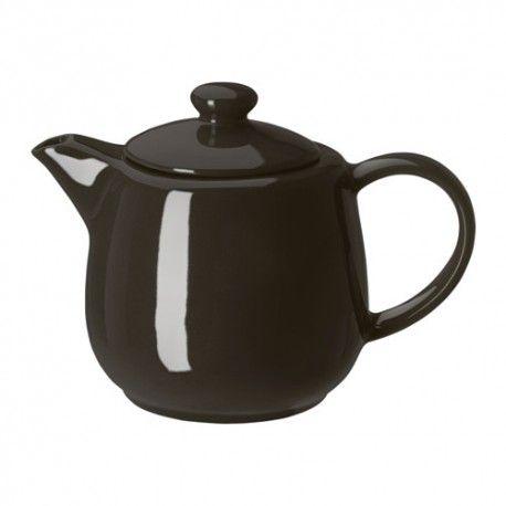 VARDAGEN Czajniczek, kremowy, 1.2L, kamionka, czajniczek do herbaty, akcesoria do herbaty, akcesoria ikea, zakupy z ikei, kawa ikea, herbata ikea, sztućce z ikei, kuchnia ikea