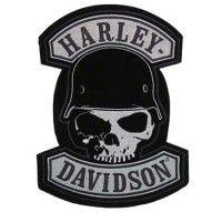 Harley-Davidson Gothic Winged Skull Patch Embroidered Emblem Small Size  EM108302