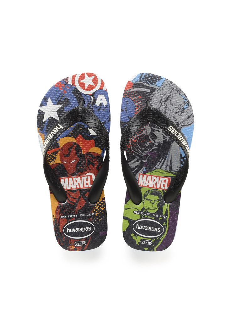 Havaianas Kids Marvel Top Captain America + Iron Man Sandal Turquoise/Black  Price From: 24,00 $CA  https://flopstore.ca/ca_french/catalog/product/view/id/31140/s/havaianas-kids-marvel-top-captain-america-iron-man-sandal-turquoise-black/