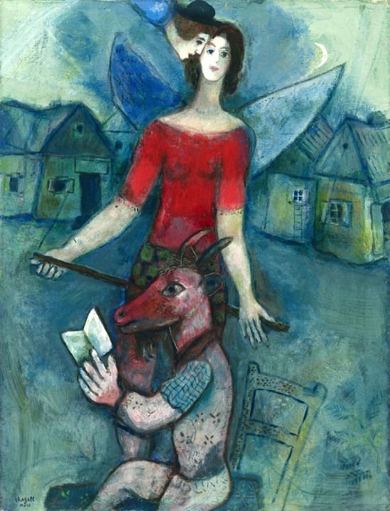 Marc Chagall. The angel and the reader 1930