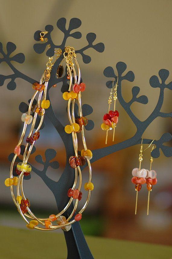 Natürliche Halskette Feder-Halskette Perlen Halskette