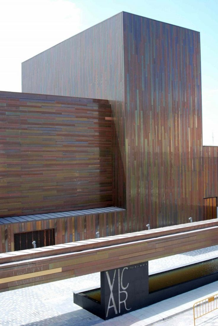 Teatro Vicar, copper and brass exterior, architect solinas+verd