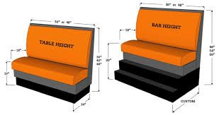 Image result for restaurant bench seating dimensions metric