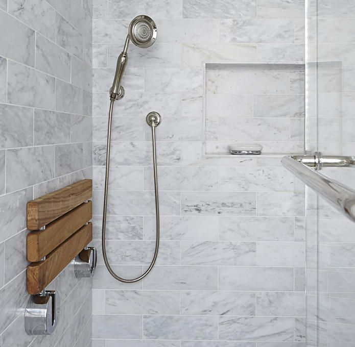 An ADA Compliant Shower Can Be Beautiful. Nice Fold-down