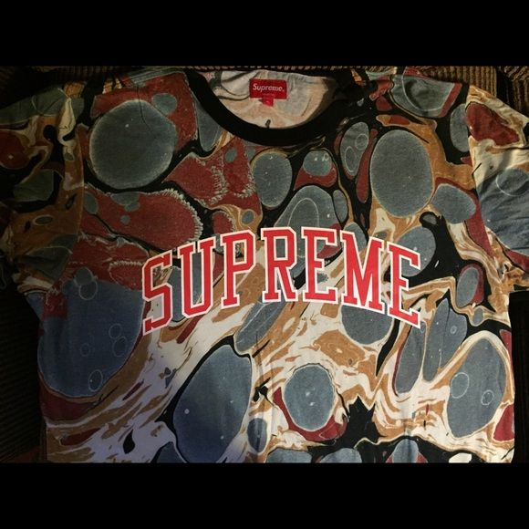 SS 2014 Supreme Marble Earth Tones TShirt This is a super valuable tshirt from Supreme's Spring/Summer 2014 collection. Worn once and never washed. Men's XL. Supreme Tops Tees - Short Sleeve
