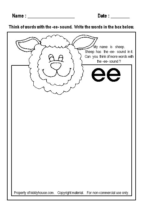 40 Best Ee Ea Word Families Images On Pinterest