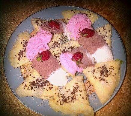 Crepes ice cream ❤