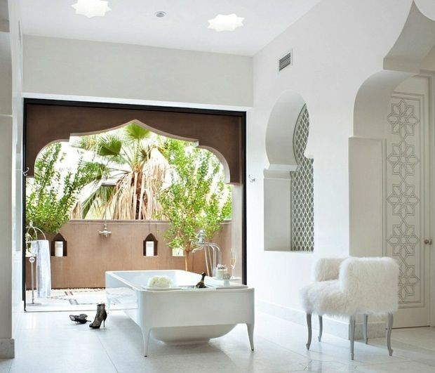 salle de bain marocaine blanche - Salle De Bain Marocaine Moderne