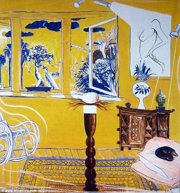 The Brett Whitely painting titled Interior with Bull-Bull Egg Sculpture: