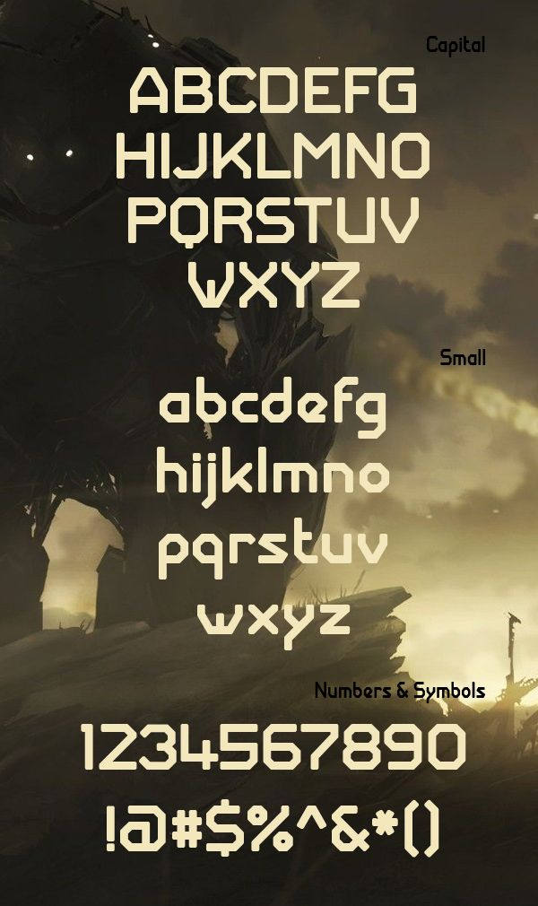 Giant Robot Army Free Font Letters