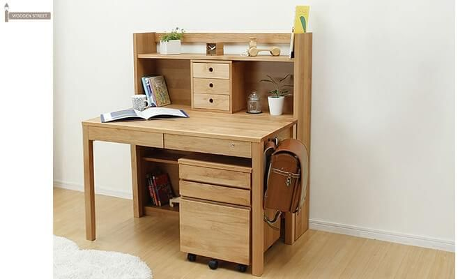 Frodo Study Table Cum Shelf (Natural Finish)-2