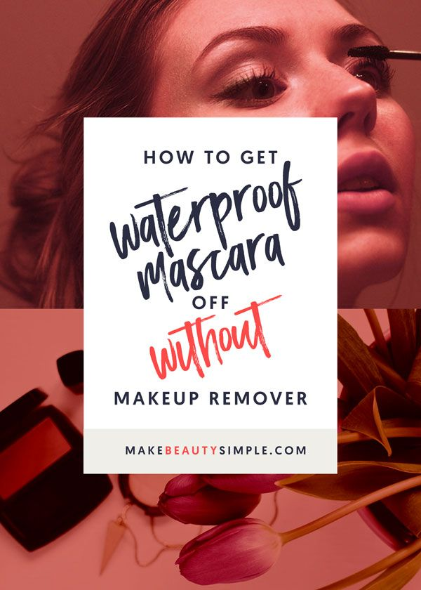 How to get waterproof mascara off without makeup remover? | makebeautysimple.com @Cath_Millen