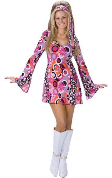 Adult Feelin' Groovy Sexy 60s Costume