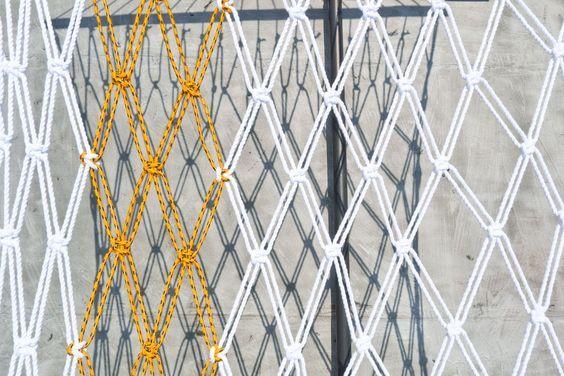 Make it Modern: DIY Two-Tone Sail Rope Hammock