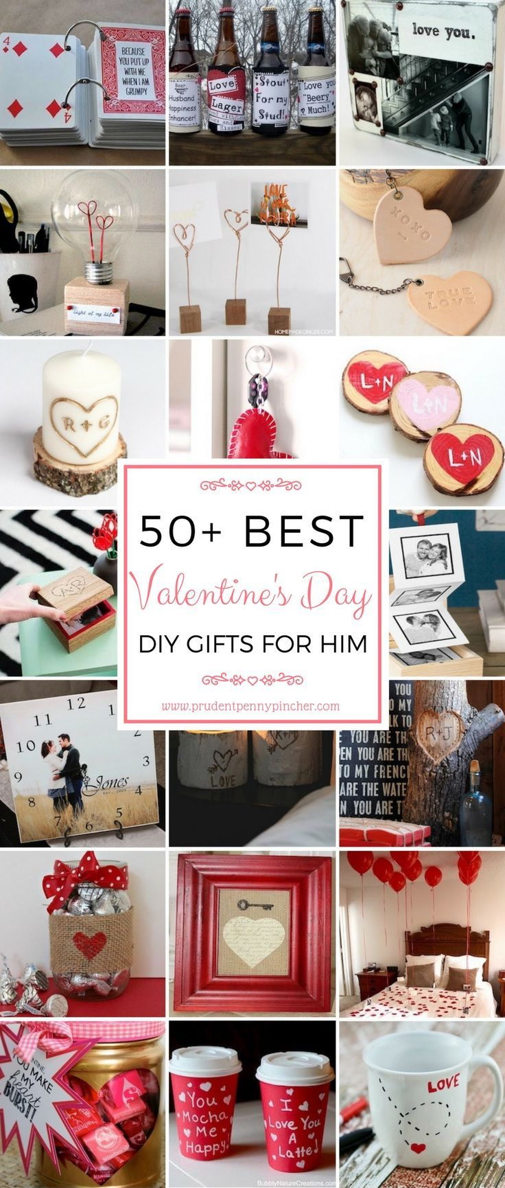 50 Diy Valentines Day Gifts For Him Valentines Pinterest Diy