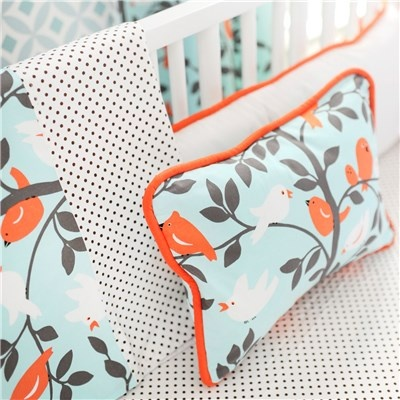 new nursery color option: tangerine & aqua with black & white polka-dot?