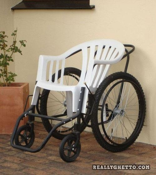 If your wheel chair is made out of one of your yard chairs.....you might be a redneck!!