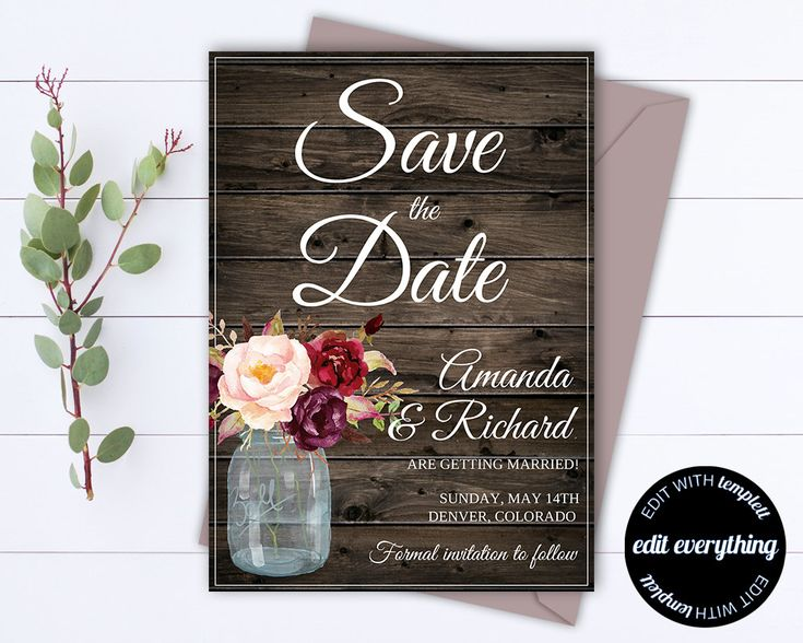 Best Save The Date Images On   Wedding Templates