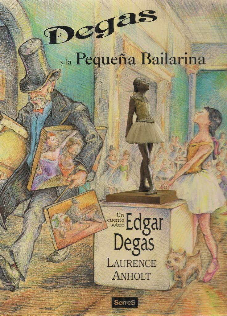 ANHOLT, LAURENCE. Degas y la pequeña bailarina : un cuento sobre Edgar Degas (I-N ANH deg) En el centro de una espaciosa sala de un famoso museo, se encuentra una preciosa escultura de una pequeña bailarina.. Este delicioso libro ilustrado que entreteje la historia de los ojos del pintor Degás y los pies de la bailarina Marie, inspirándose sobre todo en la escultura titulada La pequeña bailarina, que le dio prestigio y reconocimiento internacional a Degas.