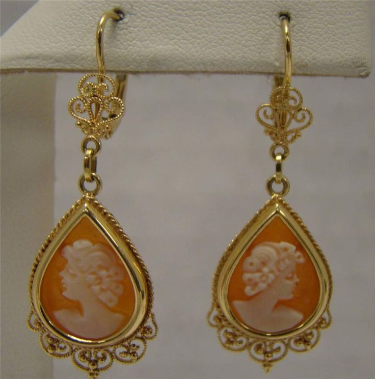 73 best cameo jewelry images on pinterest cameo jewelry ancient solid 14k yellow gold cameo with filigree leverback dangle earrings caro 57g caro cameo jewelryantique aloadofball Gallery