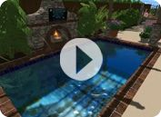 Patio turns into a pool in under 2 minutes! Need this pool/patio next summer!!!!!!