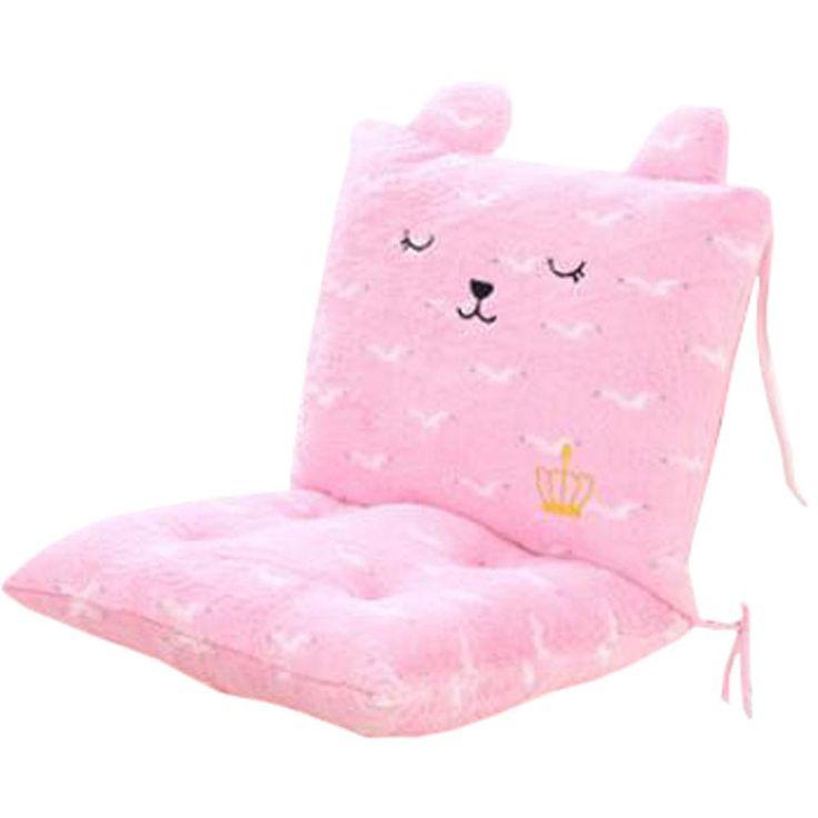 Plush Chair Sofa Cushion Students' Thicker Cushion Office Chair Cushion Pink