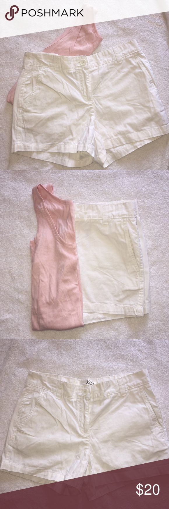 "White JOE Fresh Shorts ❣️ In very good condition! Size 2. Waist straight across 15"". Back rise 12"". Front rise 10"". Feel free to make an offer! No trades ❌ No modeling Joe Fresh Shorts"