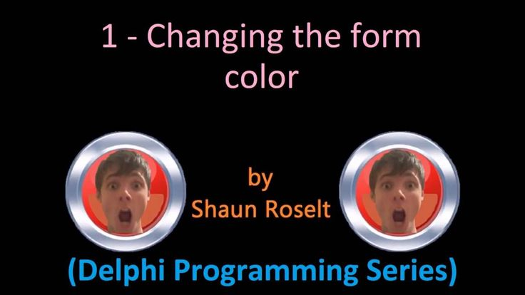 Delphi Programming Series: 1 - Changing the form color.