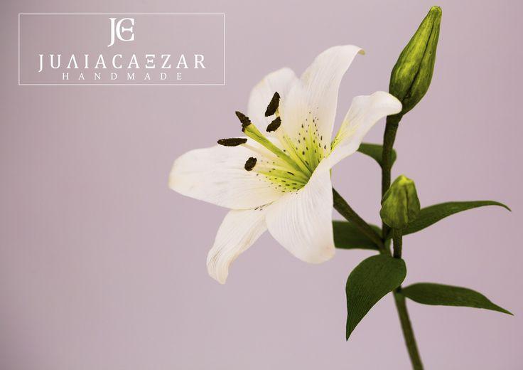 Белая лилия из фоамирана Автор: JULIACAEZAR