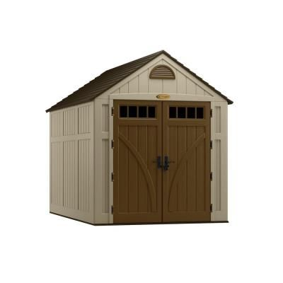 Suncast Brookland 10 ft. 8 in. x 7 ft. 6 in. Resin Storage Shed-BMS8020 - The Home Depot