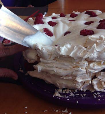 Alsurdelsur: Pavlova con crema de limón y frambuesa