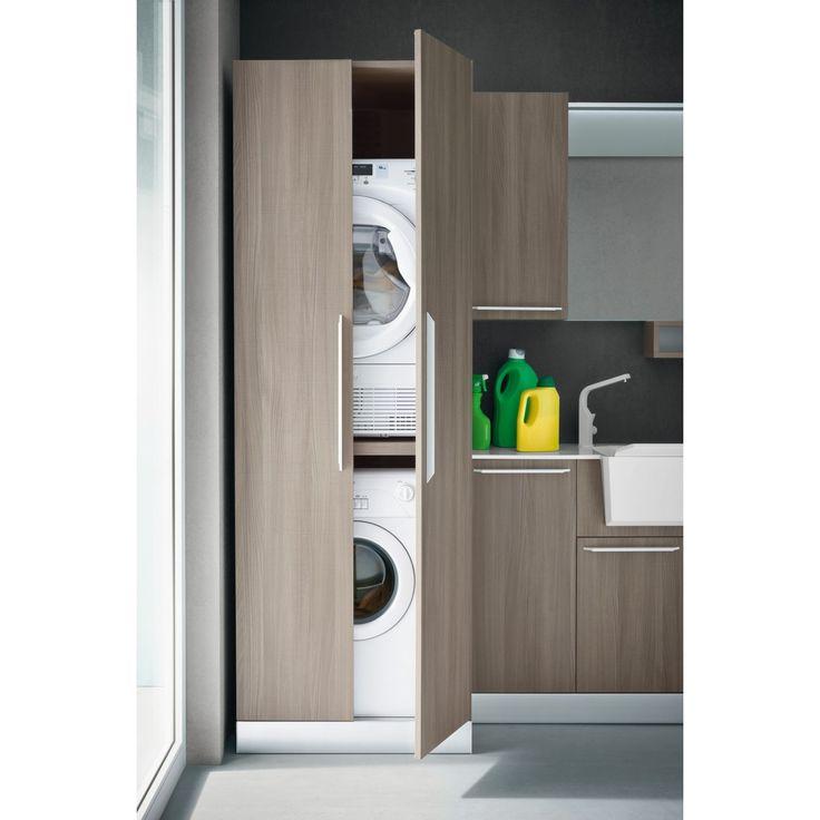 Meuble pour machine a laver et seche linge id es appartement pinterest - Seche linge appartement ...
