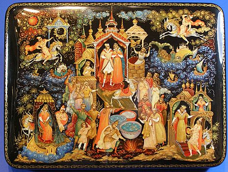 Fairy Tales,  Russian | Russians love their fairy tales: their famous lacquered boxes are ...
