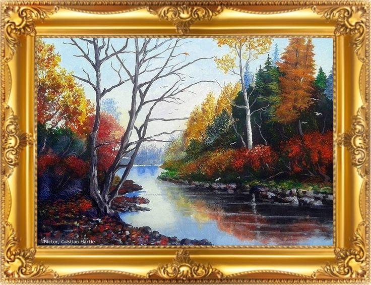 Peisaj de toamna 80 x 60 cm  Pictor : Cristian Hartie www.cristianhartie.wordpress.com