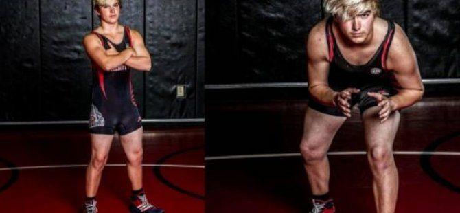 Trans erkek genç Teksas güreş şampiyonu oldu