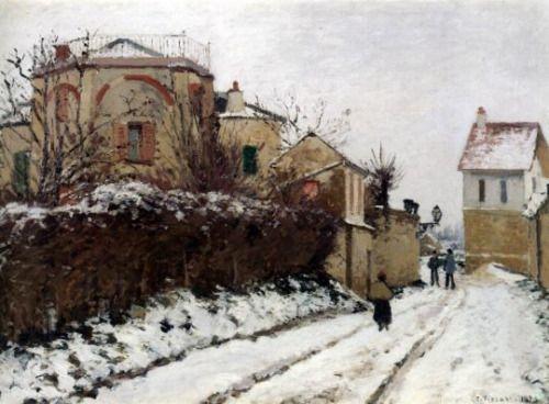 Camille Pissarro - Street in Pontoise, Winter, 1873