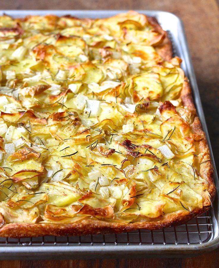 Potato Pizza | Pizza di Patate with Rosemary