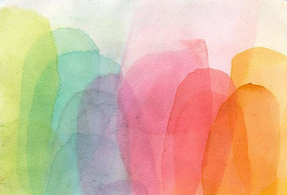 watercolor abstract color sffects study #020