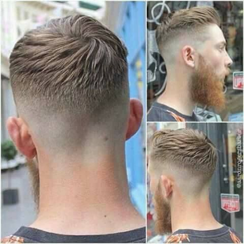 ~~Man cuts and styles and a well-done shave and his hygienic care for a good look