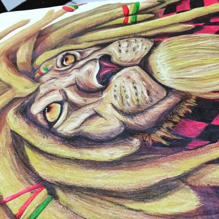 Reggaelion #lion #reggae #desenho #art #lapisdecor