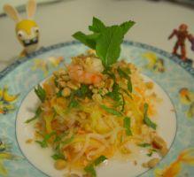 Recette - Salade de mangue verte aux crevettes - Proposée par 750 grammes