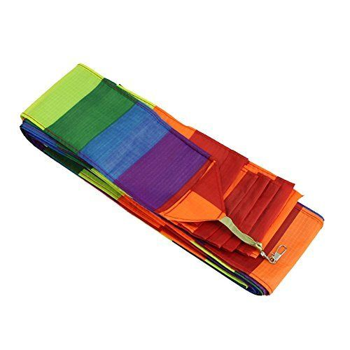 Kite tail - SODIAL(R)Super Nylon Stunt Kite Tail Rainbow Line Kite Accessory Kids Toy. 100% brand new and high quality. Good accessory for your kite. Add beauty and stability to any kite with color coordinates kite tails. Perfect for kites single line. Material: Nylon.