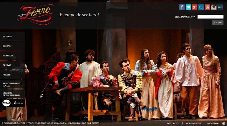 #disenoweb #disenografico #elzorro Es una aventura del legendario héroe, dijo a través de un musical y el estilo de Broadway, con un elenco de 17 actores, cantantes y bailarines. Es una historia sobre el héroe que existe en cada uno de nosotros, en la capacidad de aprender y luchar por objetivos.