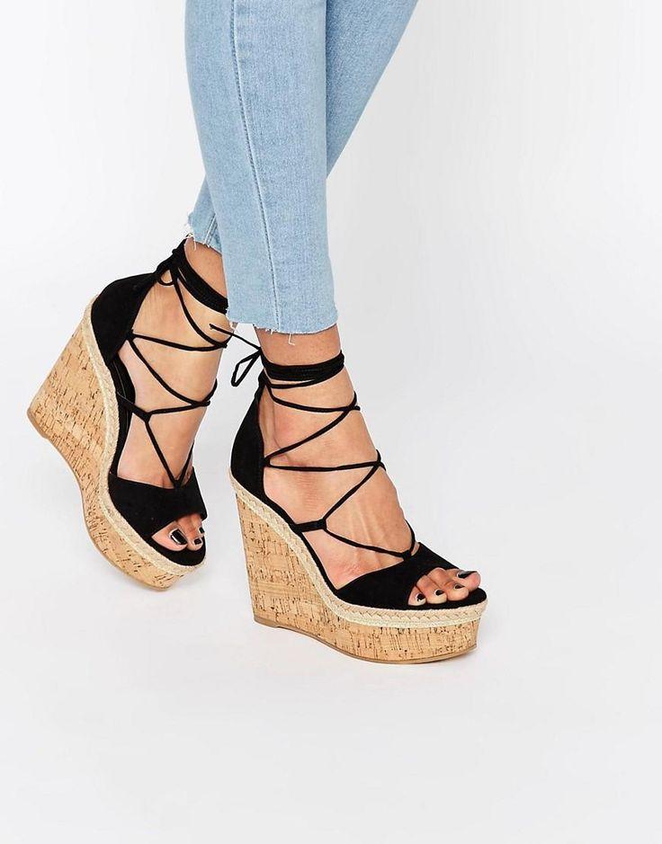 ASOS | ASOS TAMMI Lace Up Wedge Sandals at ASOS